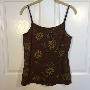Northface Womens tank Brown Knit Size L-A2